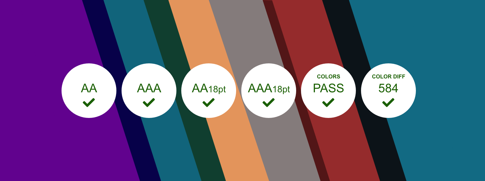Colors labeled according to user accessibility